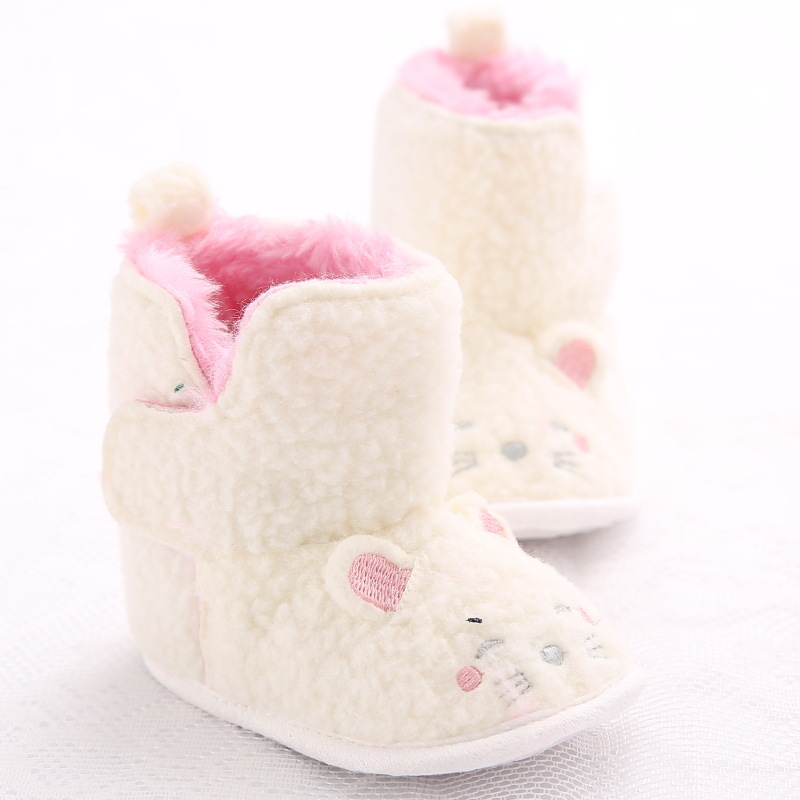 Winter 0-1 Year Old Female Baby Warm Soft Bottom Baby Toddler Shoes