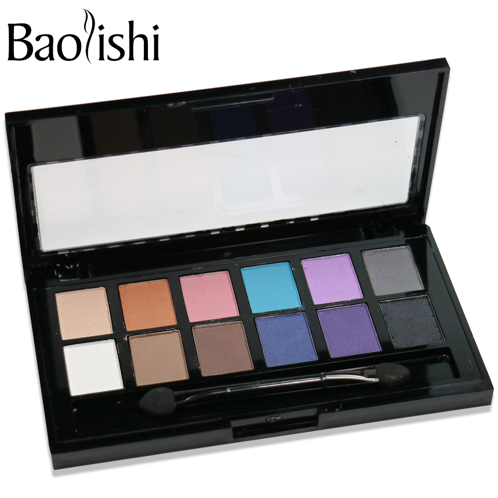 baolishi New 12 Color naked eyeshadow palette Matte Earth Color natural Eye Shadow Brand Makeup Cosmetic in Eye Shadow from Beauty Health