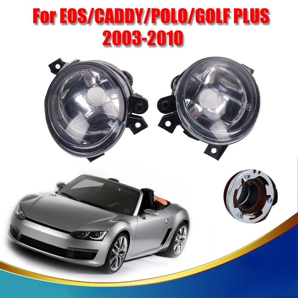 ФОТО 2x Front Grille Fog Lamps Fog Lights For VW Caddy III Eos Golf Plus mk5 Polo Tiguan Touran Wagon Car Accessory #9324