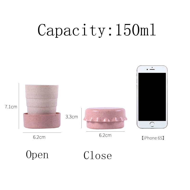 Wind flower Wheat Straw Creative Plastic Portable Telescopic Outdoor Travel Foldable Water Bottle in Water Bottles from Home Garden
