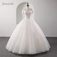 Fansmile, новое Роскошное винтажное Качественное кружевное свадебное платье, бальное платье принцессы, свадебные платья, Vestido De Noiva FSM-558F