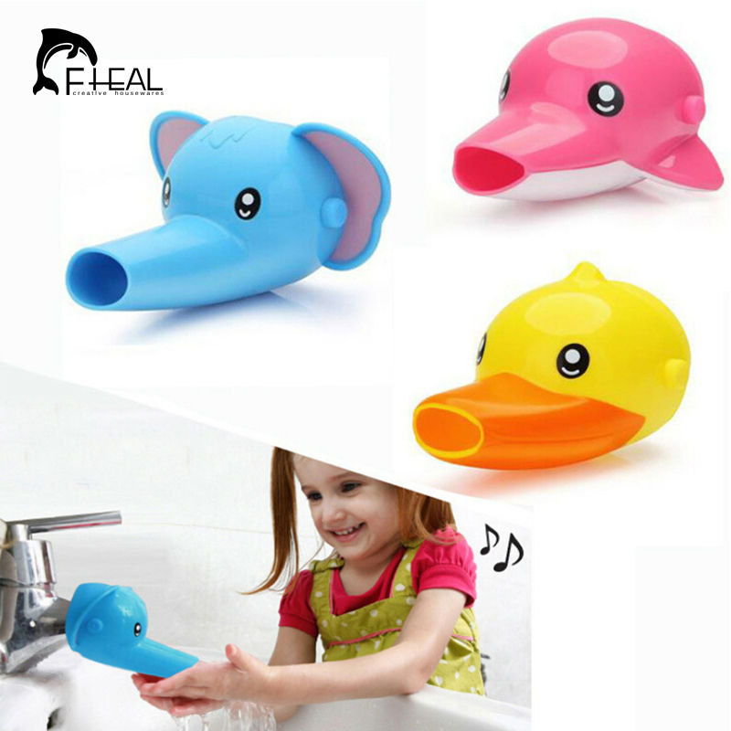 fheal cartoon faucet extender kid hand washing in bathroom sink elephant dolphin duck bathroom accessories