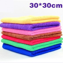 Hot sale  30X30CM and 30X60CM Microfiber Towel Cleaning Cloth Quick Dry Absorbent Scouring Pad Car Auto Wash Clean Tool