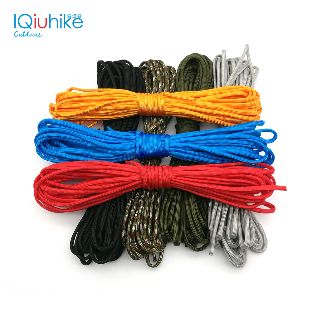 IQiuhike Multifunction Parachute 550 Popular Type III 7 Strand Paracord Cord Lanyard Mil Spec Core 100FT Camping Survival Tool iqiuhike multifunction parachute 550 popular type iii 7 strand paracord cord lanyard mil spec core 100ft camping survival tool