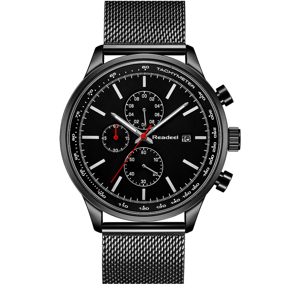 2018 хронограф Для мужчин s часы лучший бренд класса люкс ультра тонкий циферблат Полный Сталь Для мужчин часы Для мужчин модные простые relogio