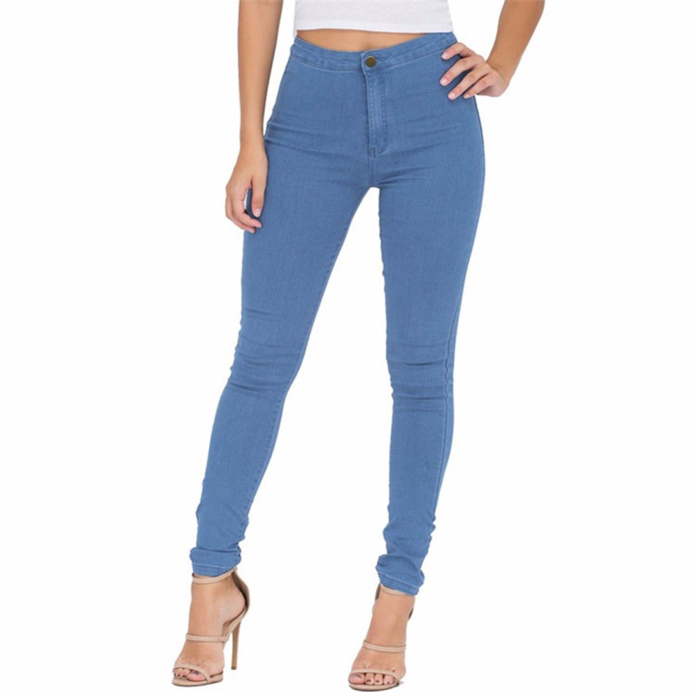 High Waist Jeans Women Skinny Elastic Pencil Pants Sexy Slim Femme Denim Pants Trousers Fit Lady Female Jeggings Jeans Plus Size fashion jeans femme women pencil pants high waist jeans sexy slim elastic skinny pants trousers fit lady jeans plus size denim