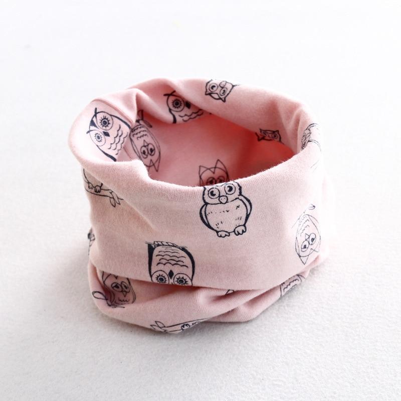 Осенне-зимний детский хлопковый шарф для девочек и мальчиков теплые шарфы Детский круглый кольцевой ошейник Детский шарф детский волшебный шейный платок - Цвет: owl 1