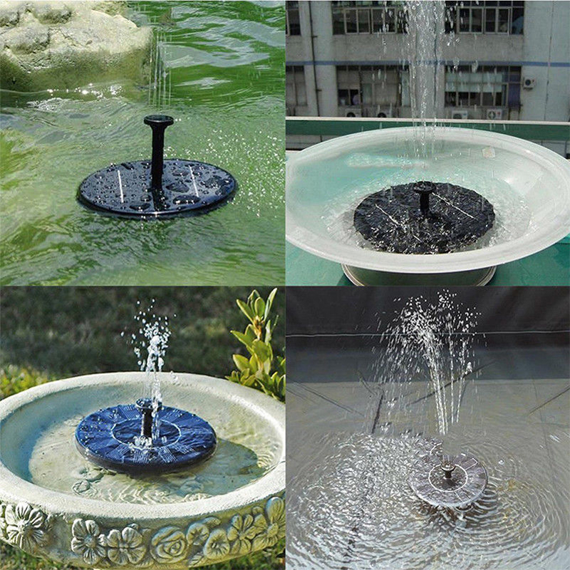 Image 3 - Water Floating Solar Powered Fountain Pump Solar Fountain Pump Brushless Bird Bath Fountain Pump Kit With Different Spray Heads-in Fountains & Bird Baths from Home & Garden