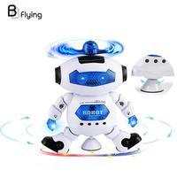 Electronic Dancing Robots Flashing Walking Music Smart Toy Kids Children Gift