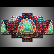 Living Room HD Printed Modular Canvas Poster 5 Panel Tool Alex Grey Graphical Framework Wall Art Painting Home Decor Pictures(China)
