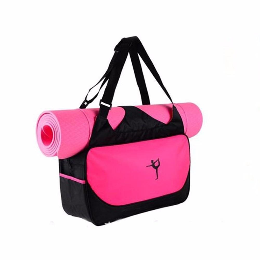 no Yoga Mat Yoga Mat Bag Waterproof Backpack Shoulder Messenger Sport Clothes Duffel Bag For Womens Fitness Gym Bag Moderate Price
