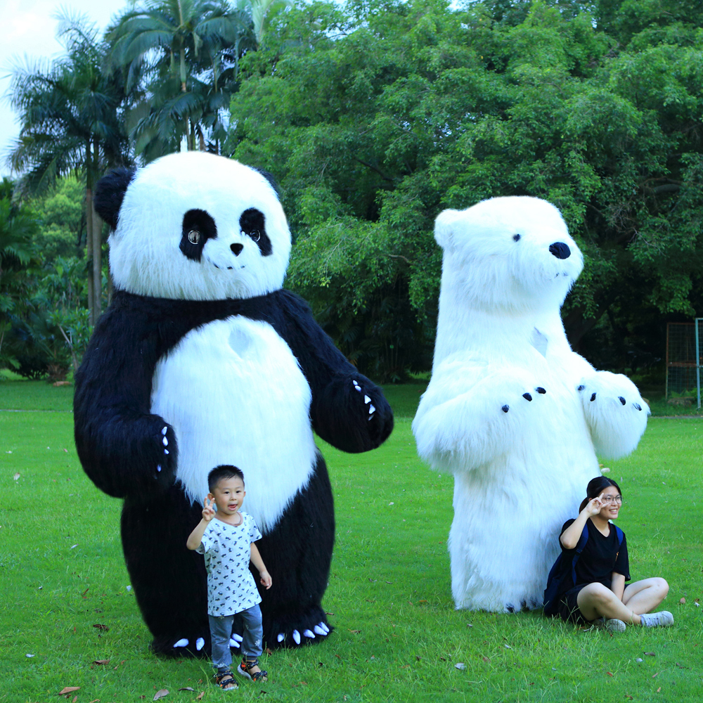 New Style Inflatable Panda Costume for Advertising 3M Tall Customize for Adult Inflatable Panda Suitable for