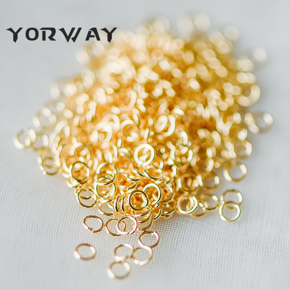 200pcs/pack Gold/ Silver Open Jump Rings, Gold/ Rhodium plated 304 Stainless Steel Split Rings, 2.5mm/ 5mm by 0.4mm (26 Gauge)