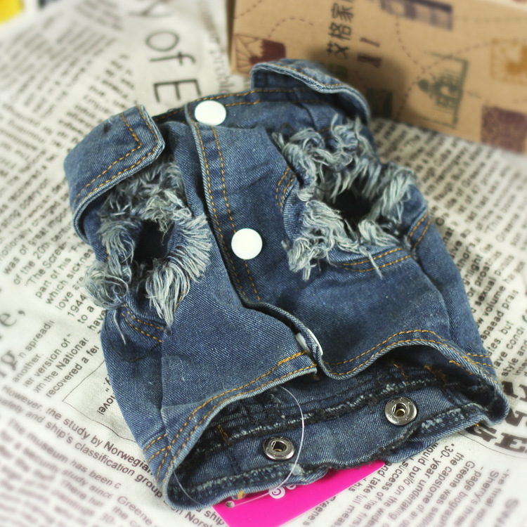 Classical Jeans Dog Jacket Personalized Costume for Small Dogs Puppy Cat Denim Dog Tshirt Coat Outfit Autumn Pet Clothes Hoodie in Dog Coats Jackets from Home Garden