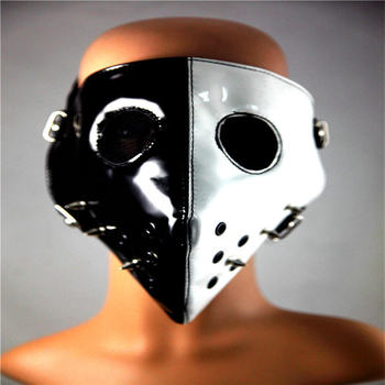 10pcs/Pack New Personality Spiked Mask Punk Black And White Hit The Nail Hat Masquerade Rock Performance Nailing Mask