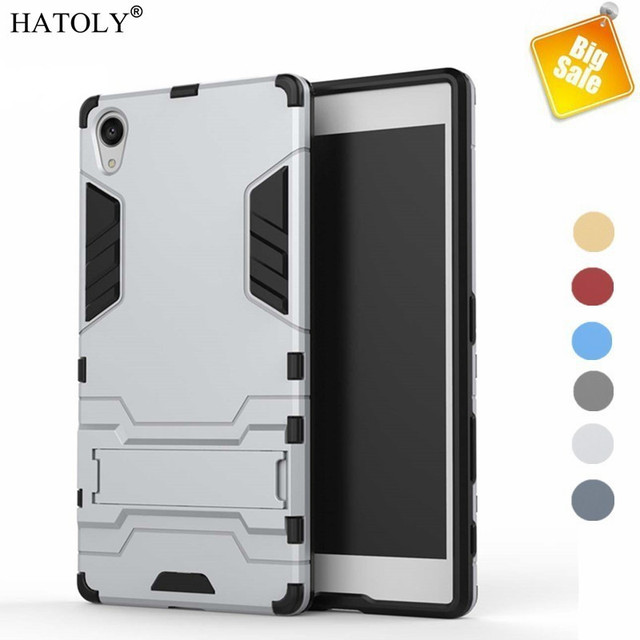 HATOLY Para O Caso Sony Xperia Z5 Premium Caso Capa TPU + PC Kickstand Para Sony Xperia Z5 Caso Premium Para snoy Z5 Plus Saco E6883 <