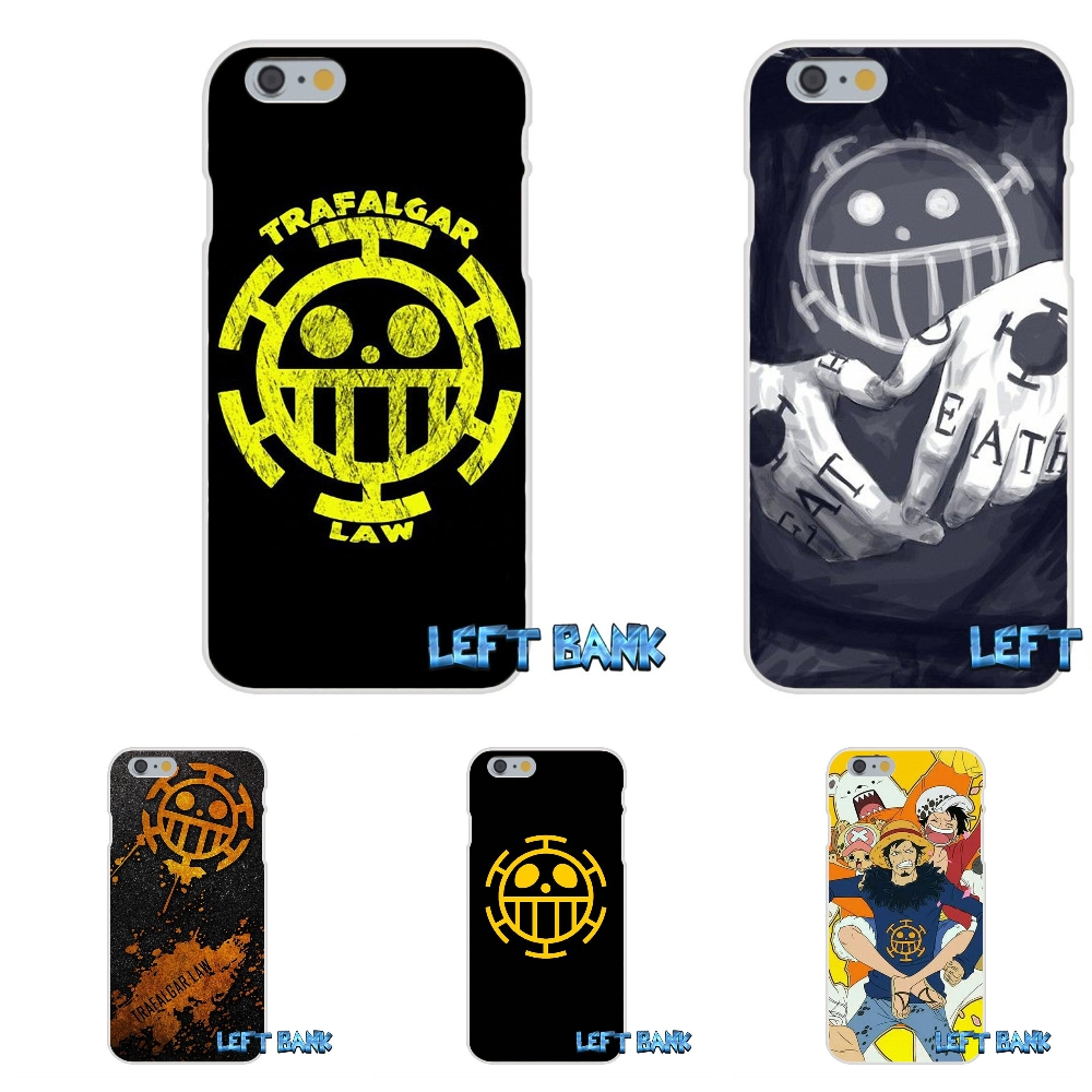 one piece trafalgar law logo  Silicon Soft Phone Case For Samsung Galaxy S3 S4 S5 MINI S6 S7 edge S8 Plus Note 2 3 4 5