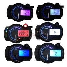 Universal Fit For Honda Yamaha Kawasaki KTM Motorcycle 12V LCD Digital Backlight Tachometer Speedometer Odometer Tacho Gauge for honda cbr400 nc29 speedometer tachometer tacho gauge instruments motorcycle parts