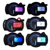 Universal Fit For Honda Yamaha Kawasaki KTM Motorcycle 12V LCD Digital Backlight Tachometer Speedometer Odometer Tacho Gauge