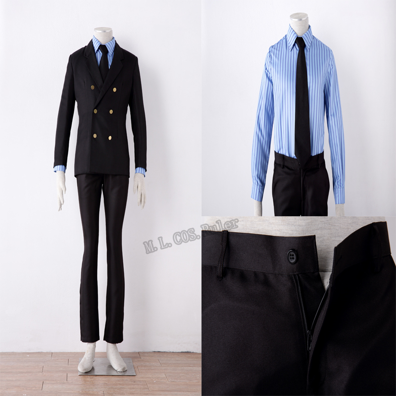 New Arrival One Piece Sanji Cosplay Costume Custom Made Suit Free Shipping