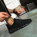 2017Hot Nova Chegada Homens Sapatos de Malha de Ar de Borracha Ocasional Sólida Respirável Sapatos Casuais Homens Zapatillas Deportivas Mujer EUR 38-48