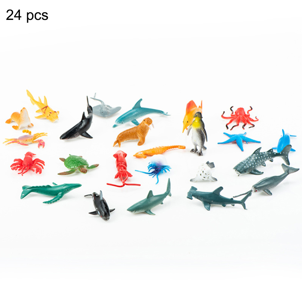 Sea Life Animals Dolphin Crab Fish Turtle Model Action Figures Figurines Ocean Marine Aquarium Miniature Education Toys HOT