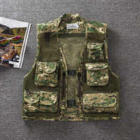 Quick Dry Mesh Vest Summer Working Clothes Men Photography Vest Hunter Jacket Military Camouflage Fshing Clothes