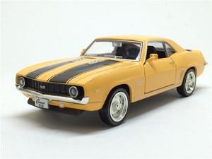 Image 3 - Camaro, 1/36, échelle américaine, modèle de voiture en métal moulé, 1969, échelle, jouet, Collection cadeau danniversaire pour enfants, livraison gratuite