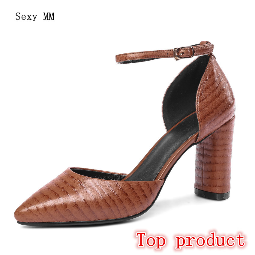 Genuine Leather High Heels Women Pumps D'Orsay High Heel Shoes Stiletto Woman Party Shoes Kitten Heel Plus Size 33 - 40 41 42 43 high heels women pumps stiletto woman party wedding high heel shoes kitten heels plus size 34 40 41 42 43