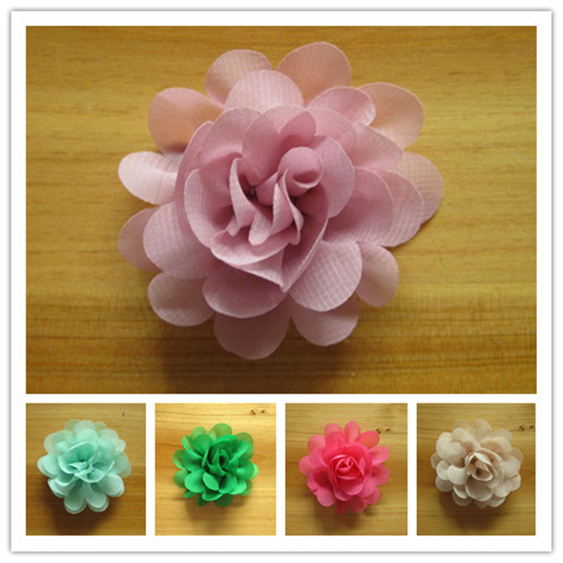 unidslote colores artificial hermoso de raso gasa de flores de tela para