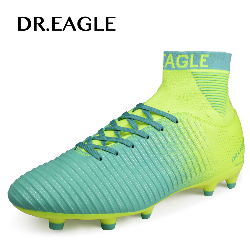 DR.EAGLE FG football shoes for men outdoor FOOTBALL WITH ANKLE BOOTS high soccer shoes cleats soccer original boot sneakers