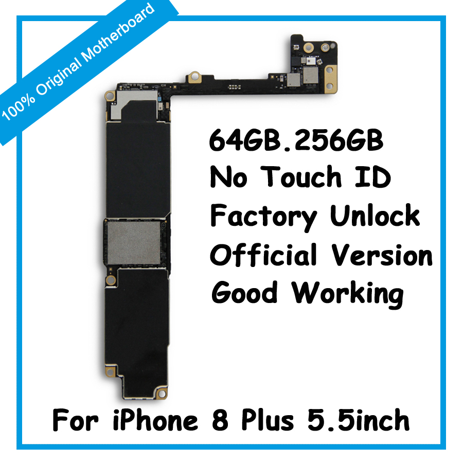 64GB 256GB Motherboard For iPhone 8 Plus 5.5inch Original Factory Unlock IOS Update Support No