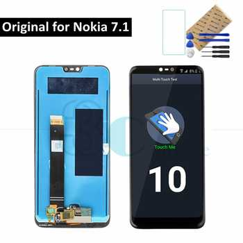 """Original For Nokia 7.1 LCD Display Screen Touch Panel For Nokia 7.1 LCD Digitizer Assembly 5.84\"""" Replacement Spare Repair Parts"""