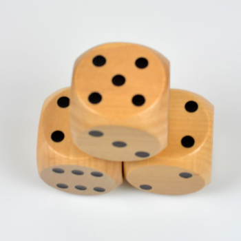 High Quality 60mm Wooden Dice Giant Digital Dice 6cm Wood Number Dices Adult Children Toy For ClubPartyFamily DIY Games number