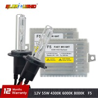 one set H7 xenon kit 0.1 Second Fast Bright F5 55w HID kit H1 H3 H4 H11 9005 9006 HB4 D2S 881 4300k 6000k 8000k