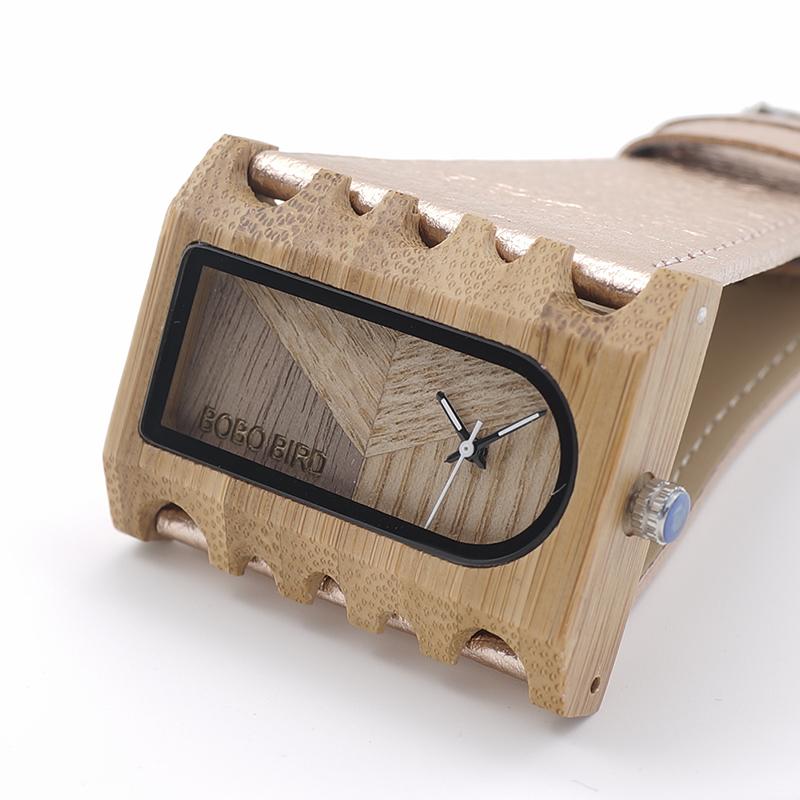 BOBO BIRD New Designer Wooden Watches Women with PU Leather Strap Quartz Watch (16)