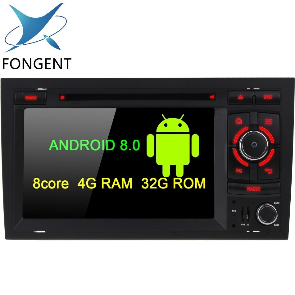 7inch Android 8.0 Radio Car Radio DVD Multimeida Player GPS for Audi A4 B6 B7 S4 B7 B6 RS4 2002 2008 RS4 B7 SEAT Exeo 2008 2012