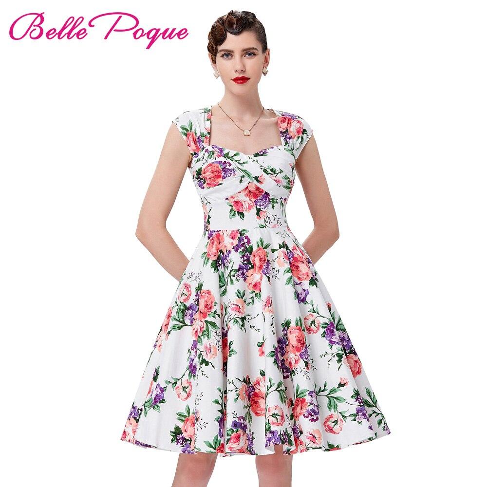 df6977cd8c7 Ретро Винтажные наряды 1950 s 60 s Belle poque Для женщин рокабилли летнее  платье 2018 Одри