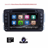 2 Din 7 Inch Radio GPS Car DVD Player For Mercedes Benz A W168 C Class