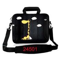 10 11.6 13 14.4 15.6 17.3 pollice giraffa Spalla Del Computer Portatile borsa Per Notebook borsa Netbook Tablet PC Borsa con Chiusura Lampo # K