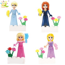 4pcs Friends Elsa Anna Princess Doll Building Blocks Compatible Legoed Friend font b Figures b font