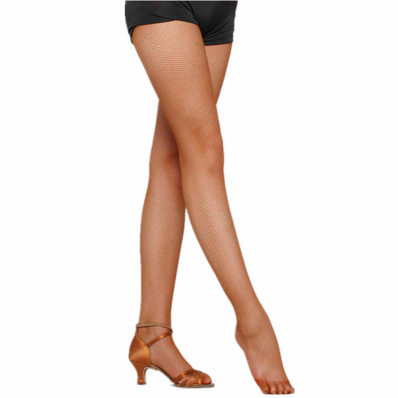 f730b83745a86 3 Colors Fashion Professional Fishnet Stockings for Ballroom & Latin Dance  Elastic Mesh Pantyhose for Women