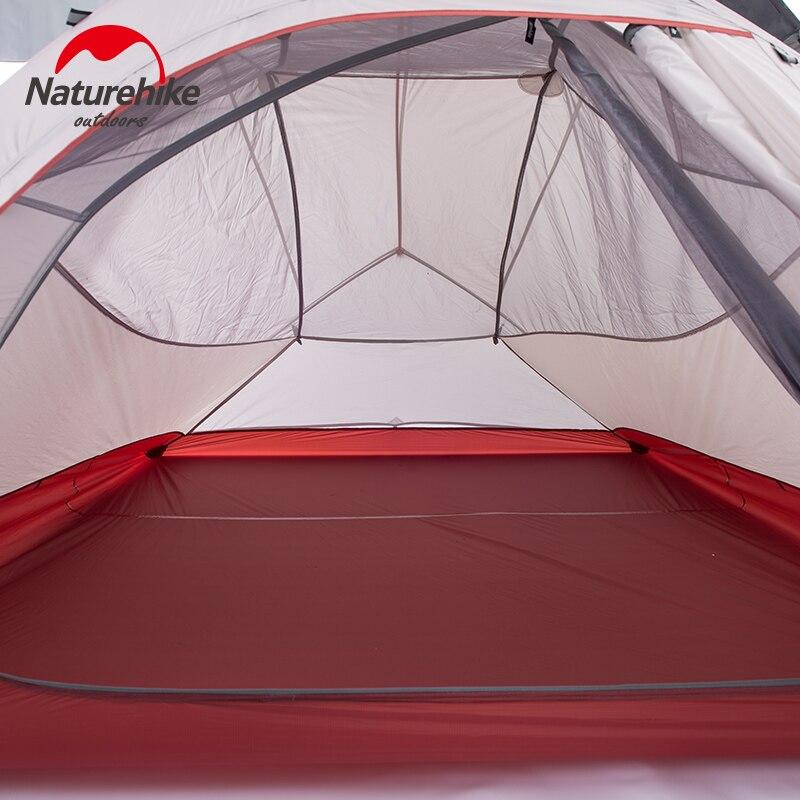 Naturehike палатка 1.8 кг 3 человек 20d силиконовые Ткань двухслойная Палатка Сверхлегкий Открытый палатки кемпинга 4 сезона nh15t003 t - 3