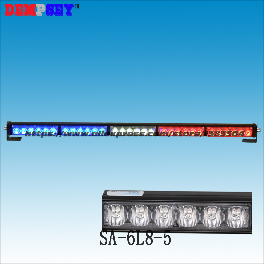 SA-6L8-5 High power LED Red/White/Blue Flashing Warning light,DC12V Police/ Car light, GenIII X 1Watt LED,5pcs head light 3 mode blue light led flashing dog collar blue 2 x cr2016