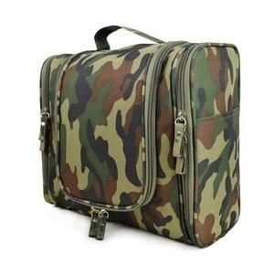 Men Cosmetic Bags Striped Pattern Organi