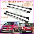 Para OPEL Mokka caliente side step bar tablero corriente, venta caliente toda China, dos opciones, de acero inoxidable + aleación de aluminio + ABS, recomendado