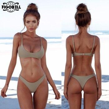 92b5de0c1b78 Halter string swimsuit 2019 rojo Brasil bikini triángulo push up traje de  baño mujeres bañador ...