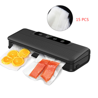Automatic Vacuum Sealer Packer Vacuum Air Sealing Packing Machine For Food Preservation Dry, Wet, Soft Food with Free 15pcs Bags