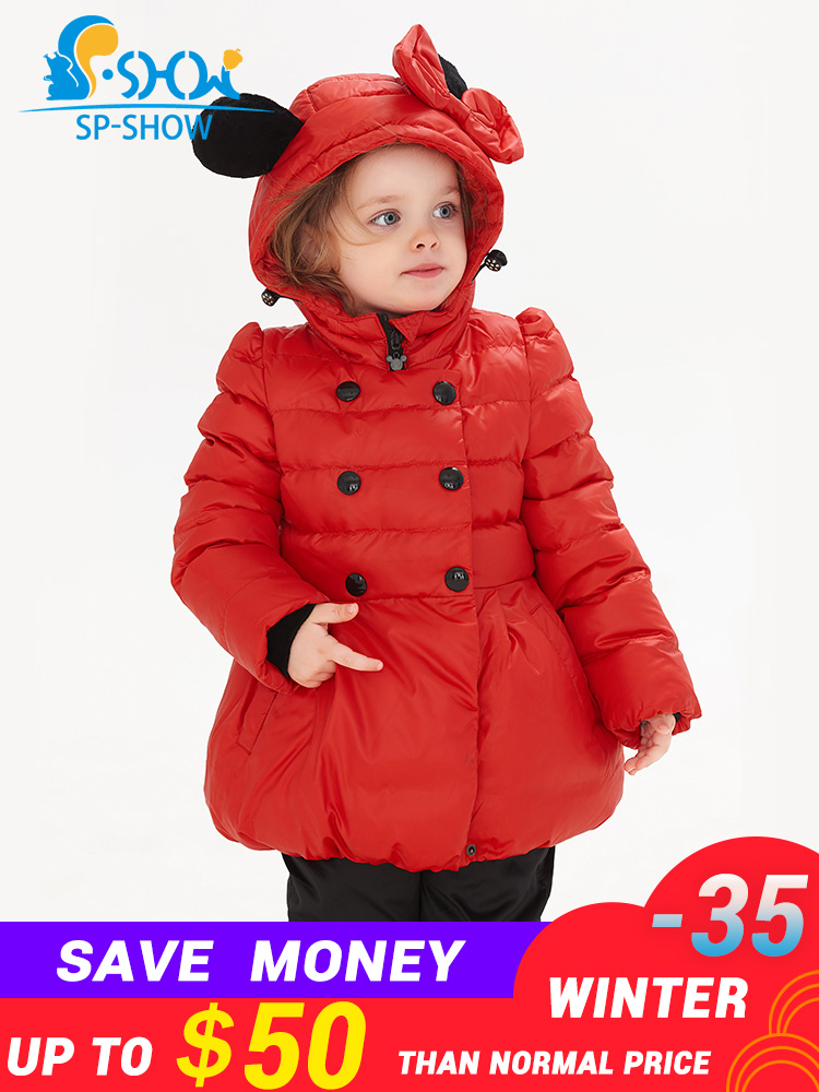 SP-SHOW 2018 Winter Childrens gril  Thick Coat Warm Fleece Hooded Cartoon Fashion Brand For Children Suit Coat+Trousers 86019SP-SHOW 2018 Winter Childrens gril  Thick Coat Warm Fleece Hooded Cartoon Fashion Brand For Children Suit Coat+Trousers 86019