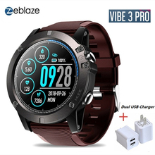 Zeblaze VIBE 3 Pro Touch Screen Bluetooth Smart Watch Men Waterproof Heart Rate Monitor Sports Smartwatch with Usb Charger